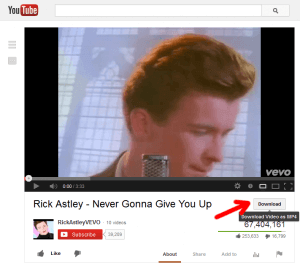 Rick Astley on YouTube