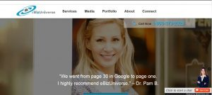 eBizUniverse homepage