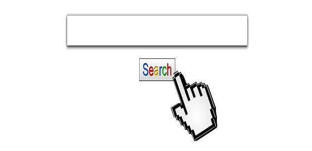 Generic search box with the search in Google fonts and colors.