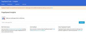 Google Developers speed test