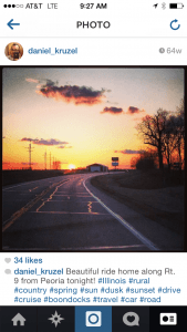 Screenshot of Instagram app displaying a photo from user daniel_kruzel.