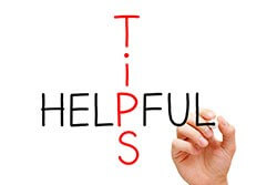 Helpful tips graffic.