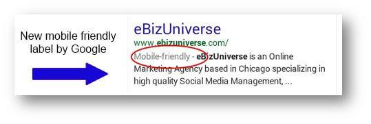 Google mobile result