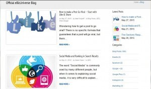 eBiz blog landing page