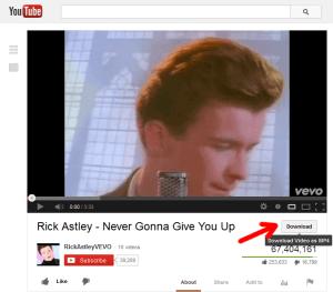 Rick Astley on YouTube
