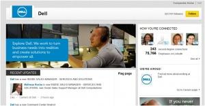 Dell LinkedIn company page