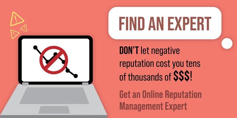 Find an online reputation management expert