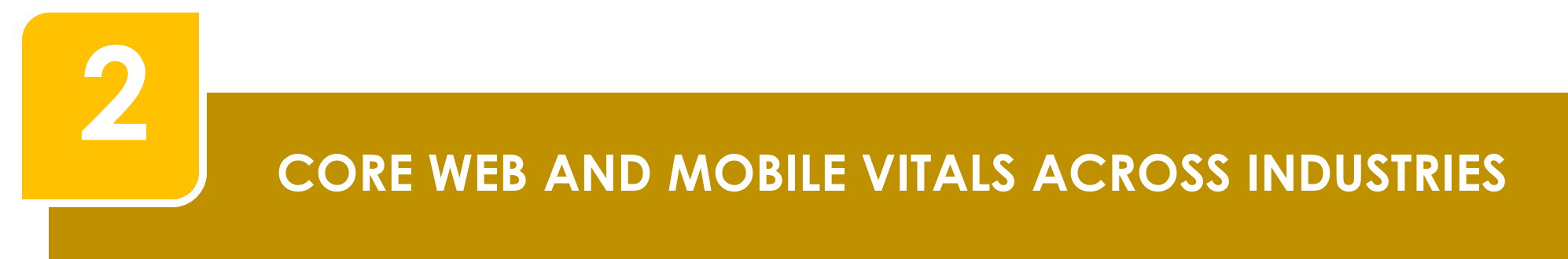 Core Web and Mobile Vitals Across Industries